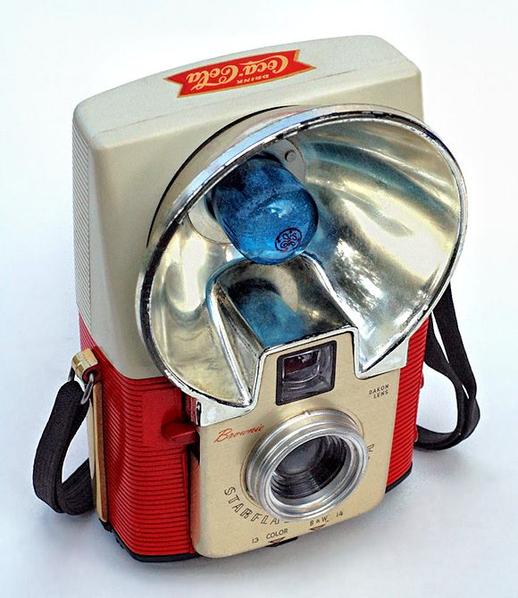 Coca-Cola Brownie Starflash #vintage #camera
