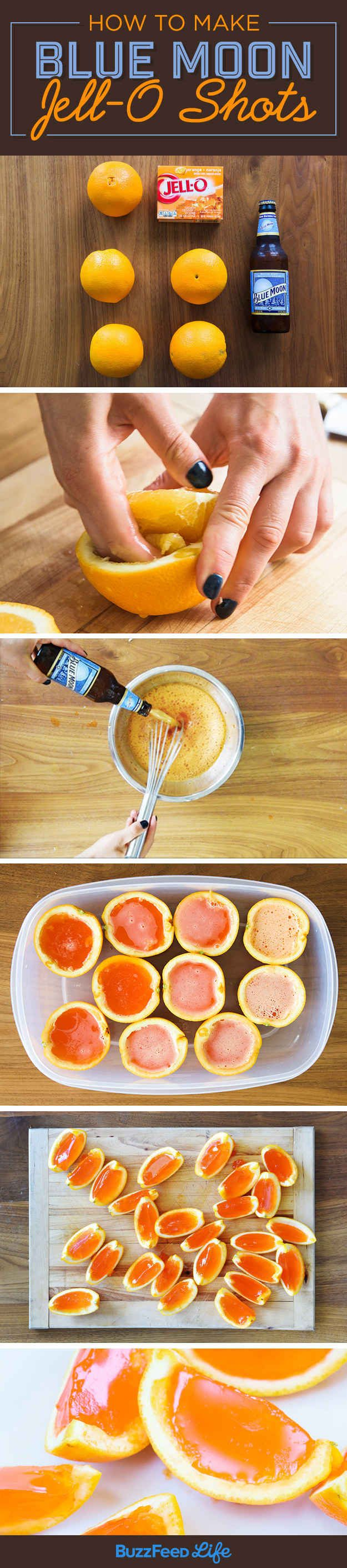 Here's How To Make Beer Jell-O Shots In Orange Wedges