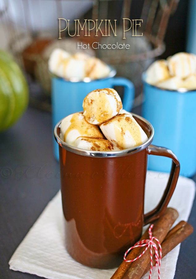 Pumpkin Pie Hot Chocolate {Perfect Fall Family Day}