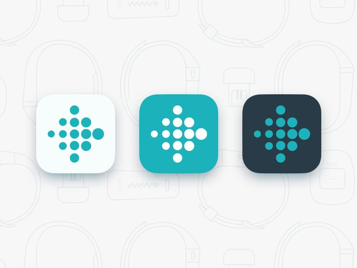 Fitbit App Icon Update by Jason Zigrino