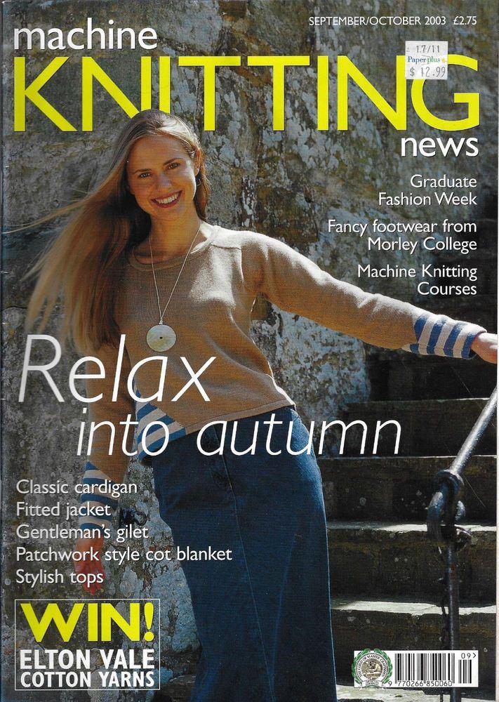 Machine Knitting News magazine September/October 2003