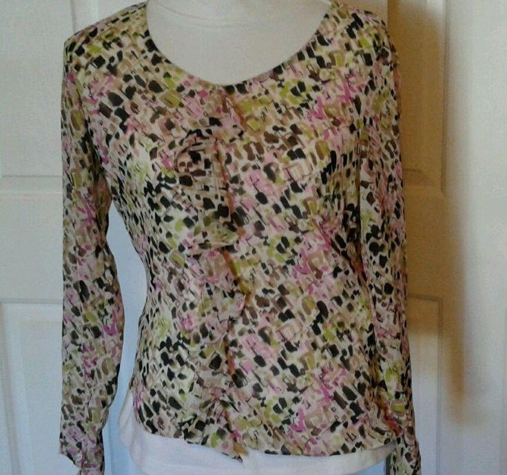 Liz Claiborne Pullover Blouse,  Top, Shirt Sz 8 Multicolor Women's, Ladies #LizClaiborne #Blouse
