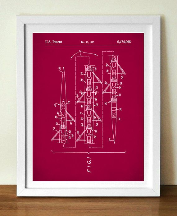 8 Man Rowing Scull Poster 8 Man Rowing by NeueStudioArtPrints