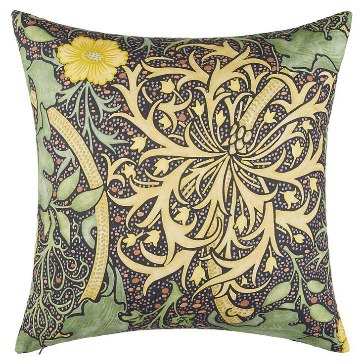 Morris & Co Seaweed Cushion, Yellow