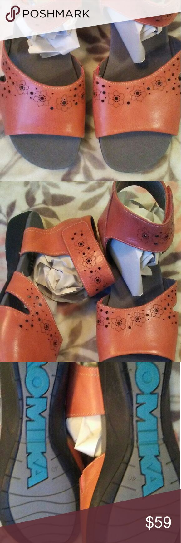 Romika ankle strap leather sandals 10 These are super cute velcro strap on  sandals with floral design great condition Romika Shoes Sandals