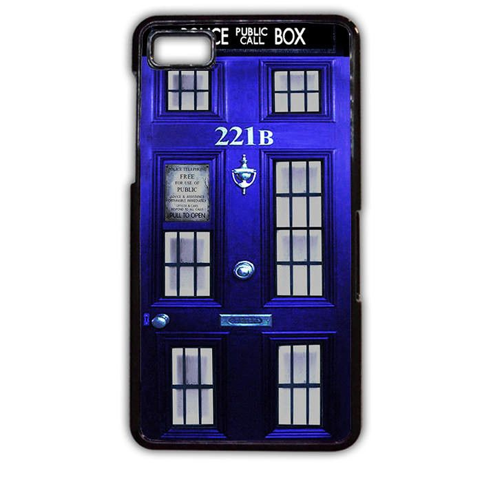 Tardis Box Sherlock Holmes Door Phonecase Cover Case For Blackberry Q10 Blackberry Z10