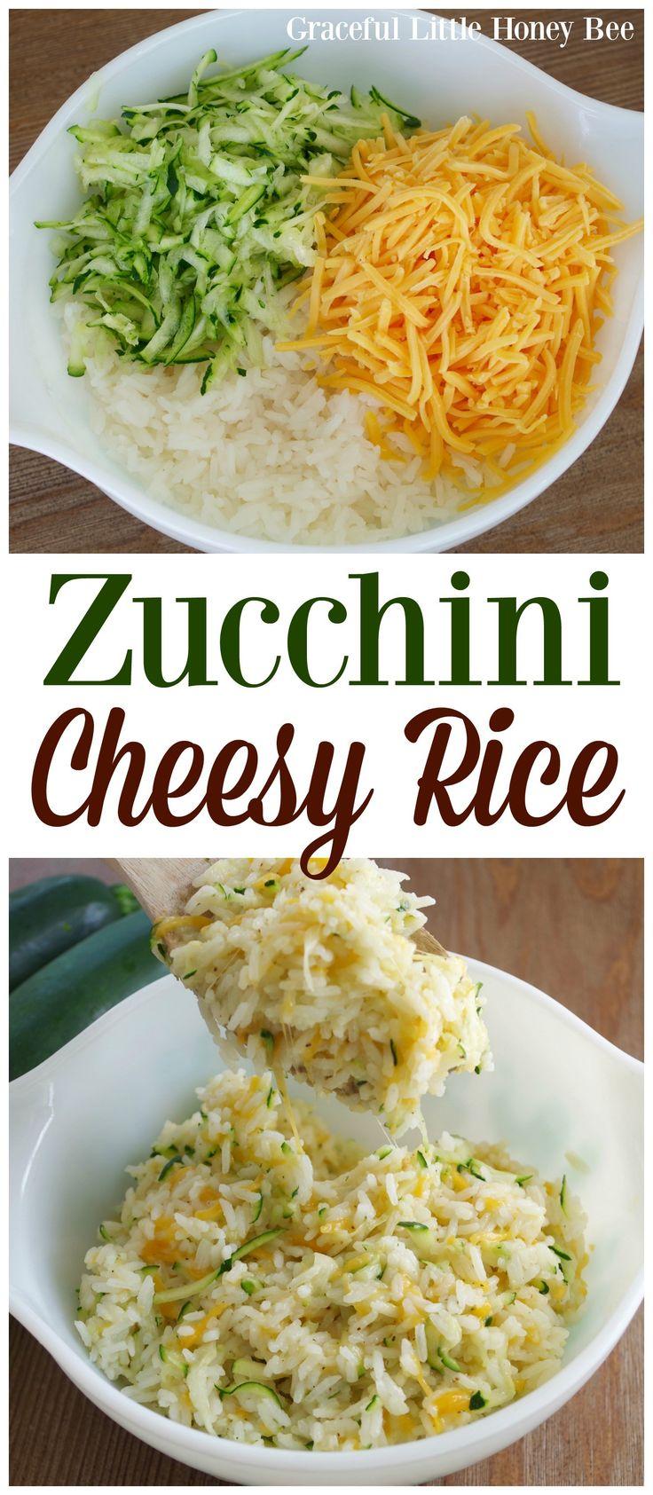 Zucchini Cheesy Rice