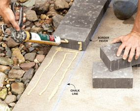 How to Cover a Concrete Patio With Pavers - Step by Step | The Family Handyman - perhaps the front walkway?