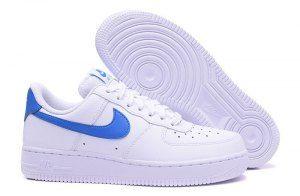 Mens Womens Nike Air Force 1 07 SE Solar White Blue 896184 100 Running Shoes 688b8f2977