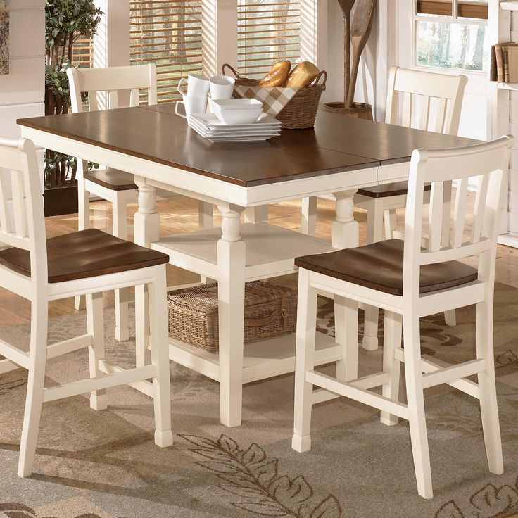 Whitesburg Square Dining Room Counter Extension Table With Storage By Signature Design Ashley Part Of
