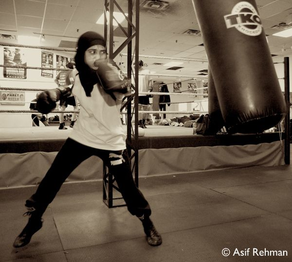 hijabi boxer. I really need to start doing this.