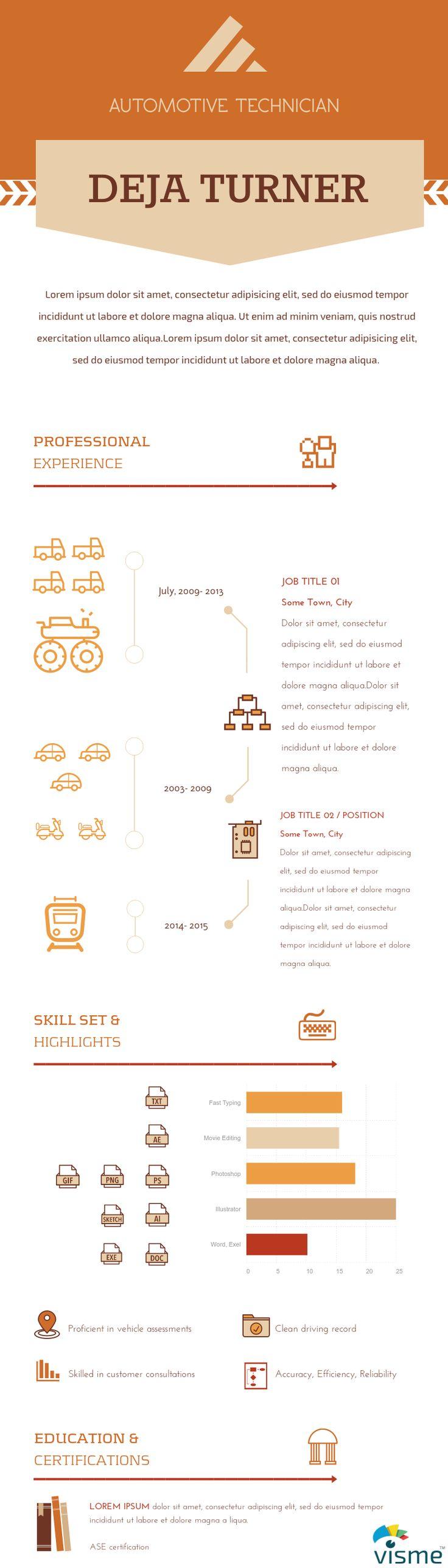 46 Best Infographic Resume Ideas Images On Pinterest Resume