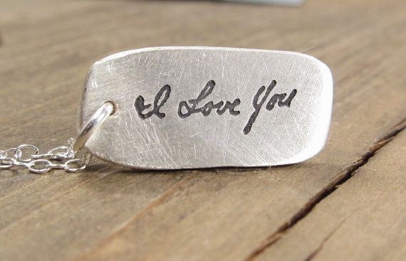 Handwritten Necklace  Memorial Jewelry   ACTUAL by punkybunny300, $55.00