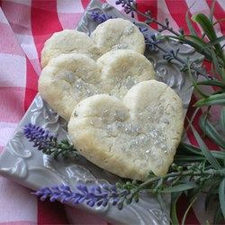 A buttery lavender-flavored dough that can be made into round shapes using a biscuit cutter, or various shapes using cookie cutters.