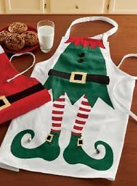 Holiday Elf Apron - omg this would be so funny at the store!