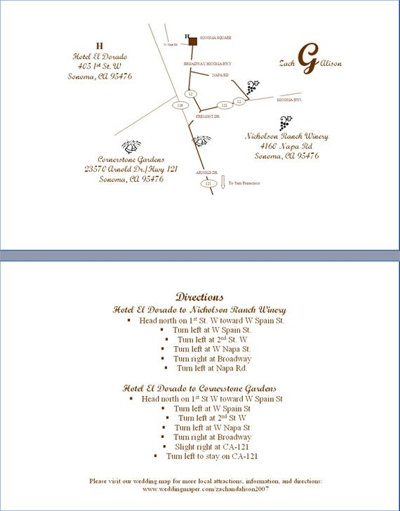 DIY directions on how to make your own map for wedding guests. Will take some time, but it is free! and directions are clear.
