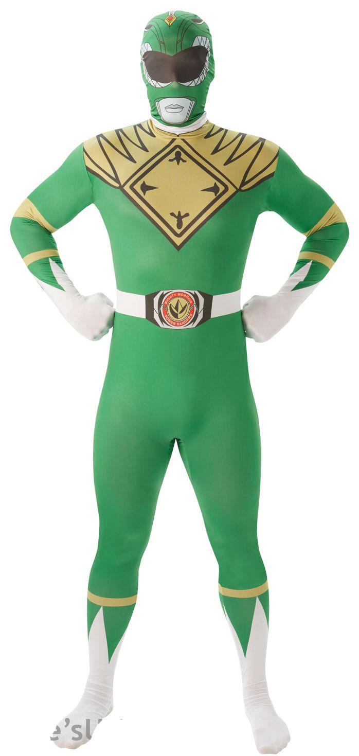 Green Power Ranger Mens 2nd Skin Suit.