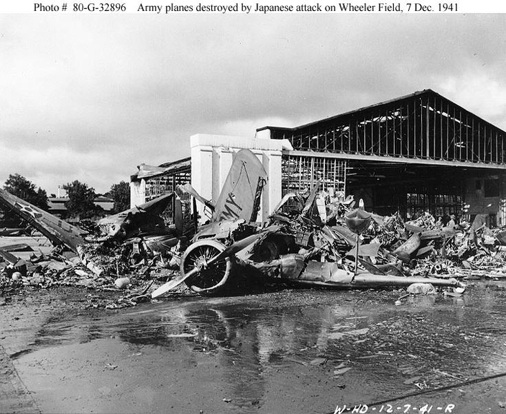 Pearl Harbor » The 1940's • 1941.US planes destroyed in the attack