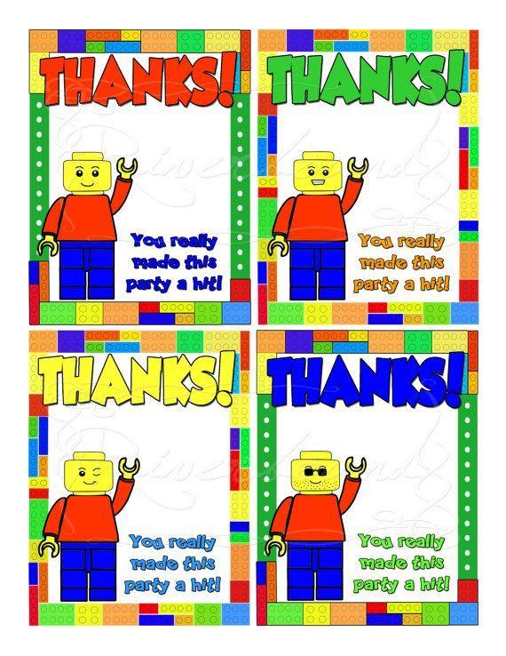 Printable+LEGO+Thank+You+Cards Liam 5th Pinterest Lego