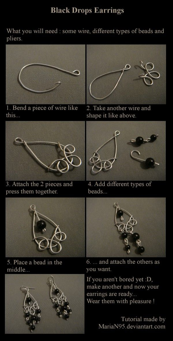 Earring picture tute. #Wire #Jewelry #Tutorials