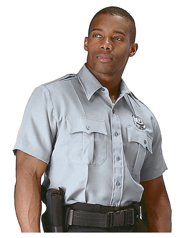Security Police & Uniform Short Sleeve Shirt Professional Mens Work Shirt
