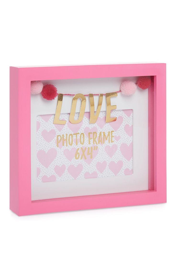 Primark - Pink Pom Pom Love Frame