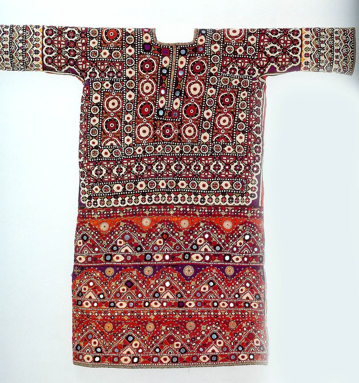 Woman's chola blouse , heavily embroidered with mirror or shisha work, Lohana Sindh , Pakistan The Zaira and Marcel Mis Collection