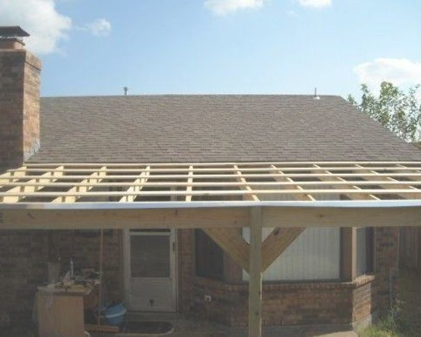 How To Build A Patio Cover With A Corrugated Metal Roof Dengarden Building A Patio Corrugated Metal Roof Pergola Attached To House
