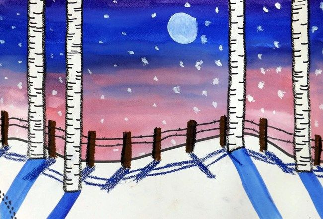 Winter wonderland - Artsonia Art Museum :: Artwork by Cameron1394