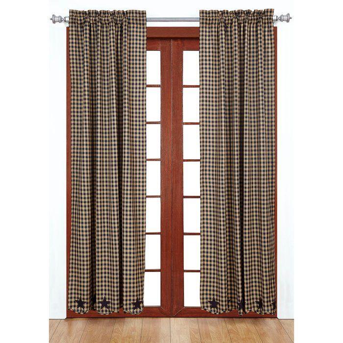 FARMHOUSE STAR APPLIQUE WINDOW VALANCENancy/'s Nook by VHC Brands