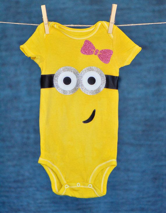 Girlie Minion Onesie Long/Short Sleeved by ANewKindofLove on Etsy