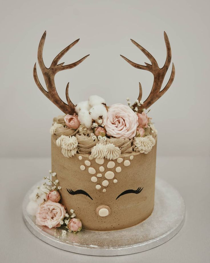 """Emazing Creations on Instagram: """"I wanted to keep this cute Bambi cake 😍  I was struggling to decide whether I should do a baby deer cake topper or a baby deer cake. I'm…"""""""
