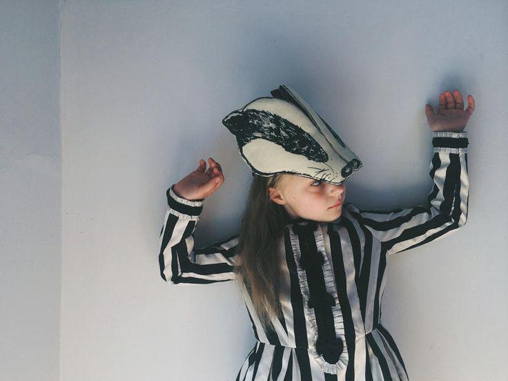 Badger...Sara Lowes   Animal Headdresses