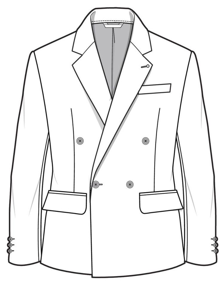 Blazer CAD/FLAT ready for detail and design for the AW16