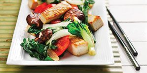 Marinating the tofu adds flavour to this tasty vegetarian dish!