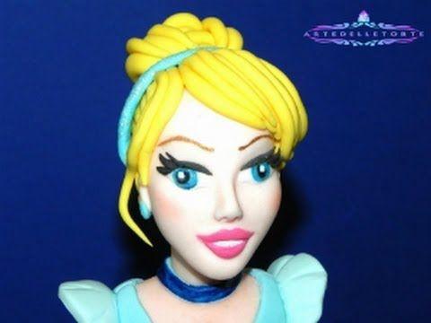Fondant The little Mermaid Cake Topper - La Sirenetta in pasta di zucchero - YouTube