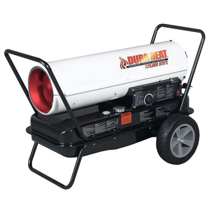 Jensen Dura Heat DFA135C 125K Portable Forced Air Kerosene Heater