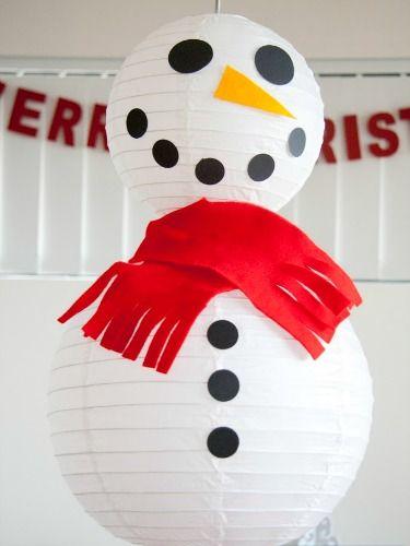 Giant Snowman #diychristmas #holidaydiy