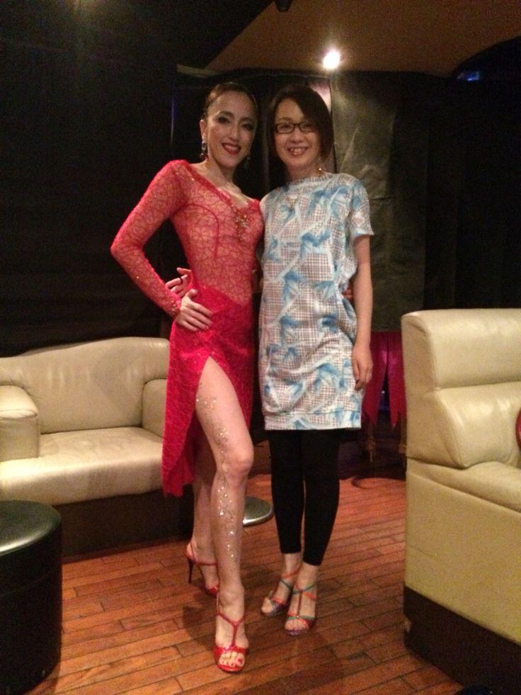 I made elegant red lace tango dress for tango dancer Ms.Alisa.  #tangodress