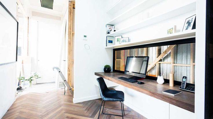 Like shelves up top and wood desk