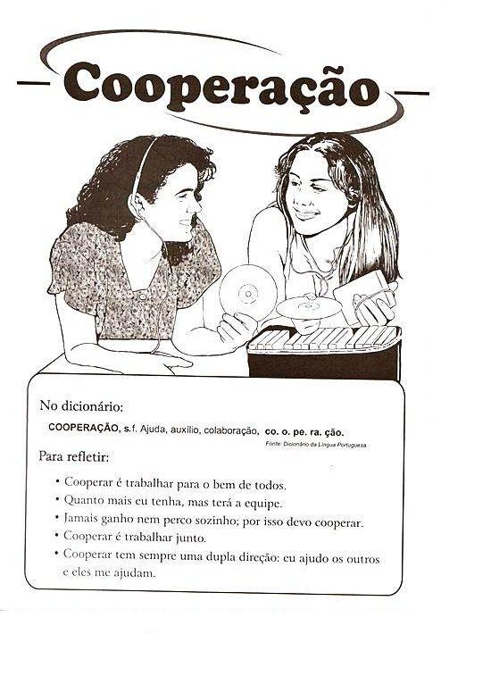 Atividade de Ensino Religioso - Cooperação | Atividades Educativas
