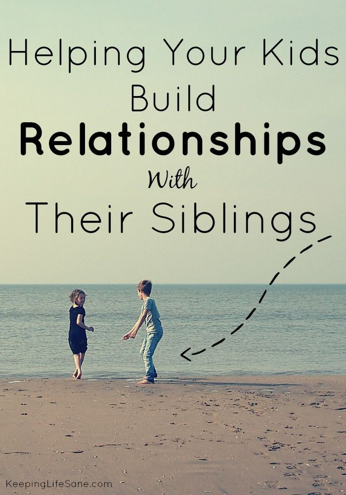 Here are some great ideas that let your kids work together and are work even when their ages are far apart. Building Sibling Relationships - Keeping Life Sane