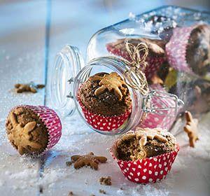 Taatelimuffinit Piparikoristein pienet jouluiset suupalat maistuvat taatelilta ja piparilta #joulu