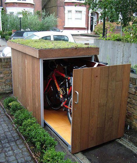 Resultado de imagem para espaço para guardar a bicicleta