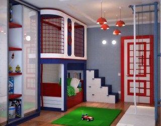 Детская для мальчика, Дизайн детской комнаты фото, Интерьер детской фото