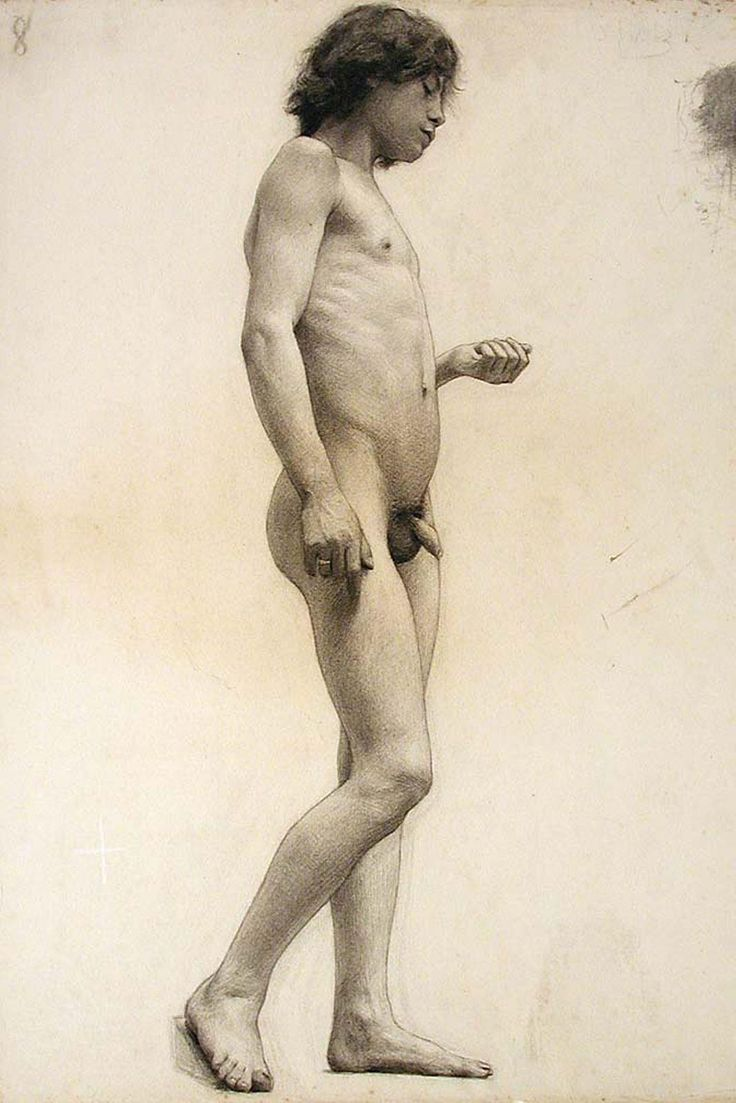 nude young boy drawings