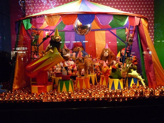 circus window display