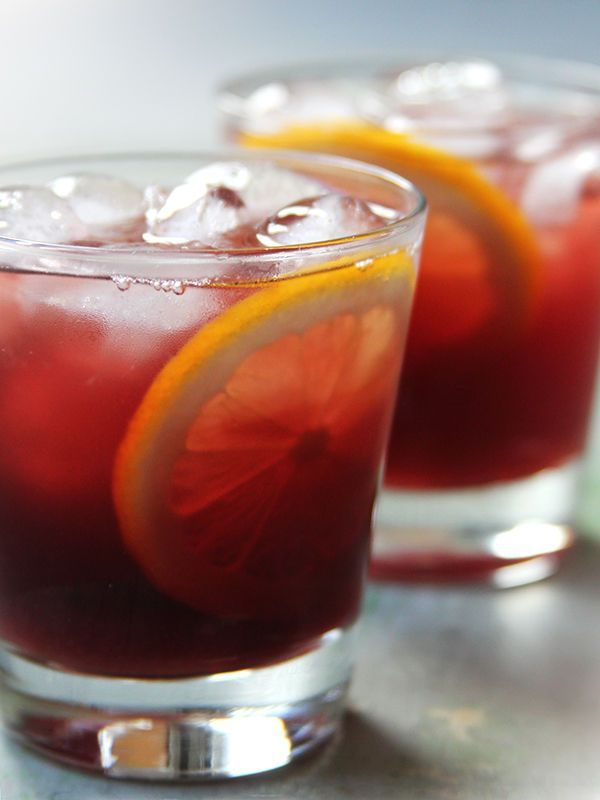 This Tom Collins—a boozy lemonade—variation amps up the color, flavor, and potency with the addition of Lillet Rouge, a vibrant fortified wine.