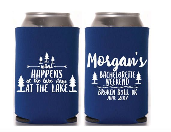 Bachelorette Favor, Bachelorette Party, Lake Bachelorette, Bridal Party, Hen Party, Can Cooler, Wedding Party, Lake Party, Girls Weekend