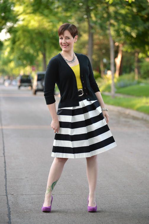 38 best black and white stripe skirt images on Pinterest